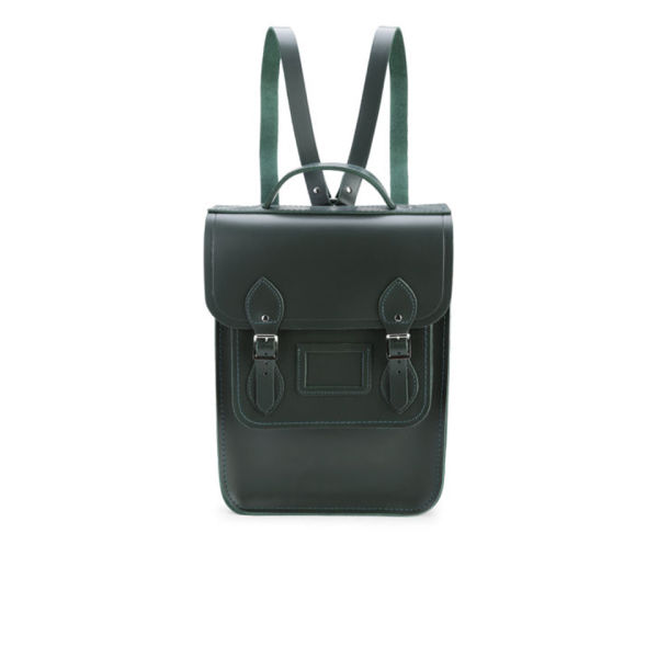 The Cambridge Satchel Company Portrait Leather Backpack - Dark Olive