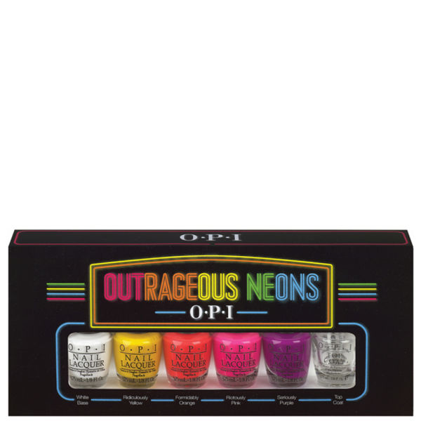 Opi Nail Lacquer Outrageous Neons Mini Pack (6 Products)