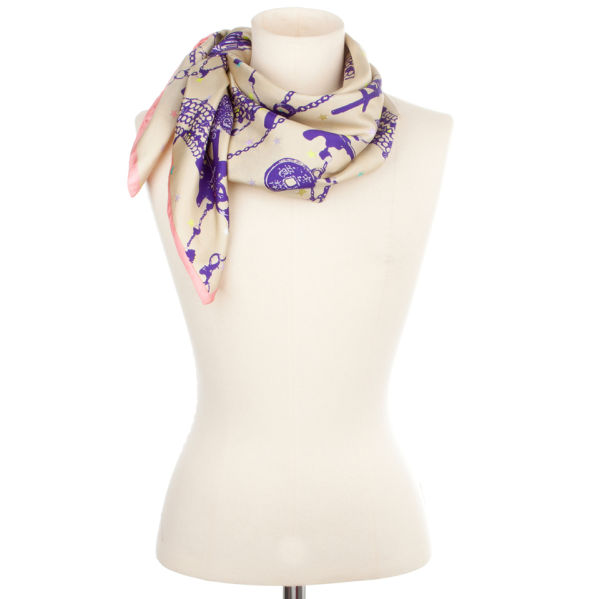 Codello Rainbow Rocker Colts and Chains Scarf - Camel