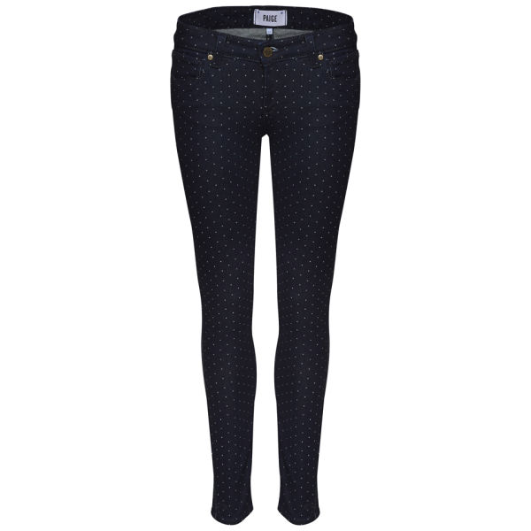 Paige Women's Verdugo Mid Rise Ankle Jeans - Pin Dot