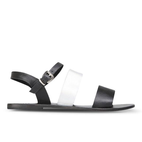 Sol Sana Women's January Leather Sandals - Black/Galaxy