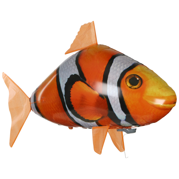 Air swimmers remote control clown fish iwoot for Remote control air swimming fish