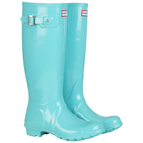 Hunter Women's Original Tall Gloss Wellington Boots - Mint