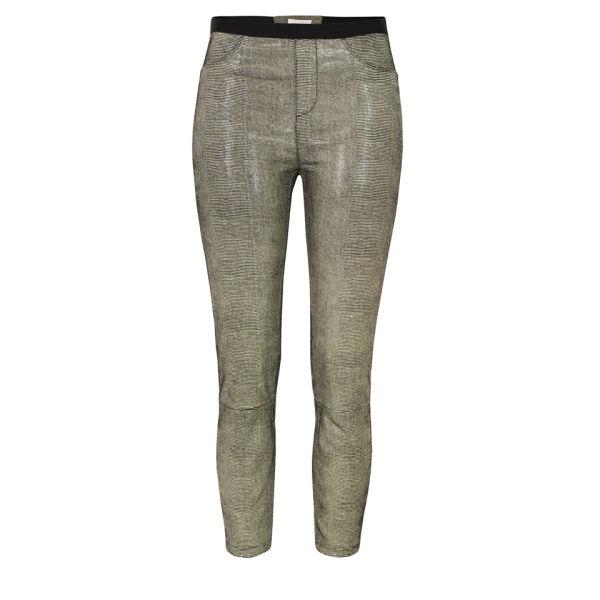 Helmut Lang Women's Rift Stretch Leather Leggings - Carbon