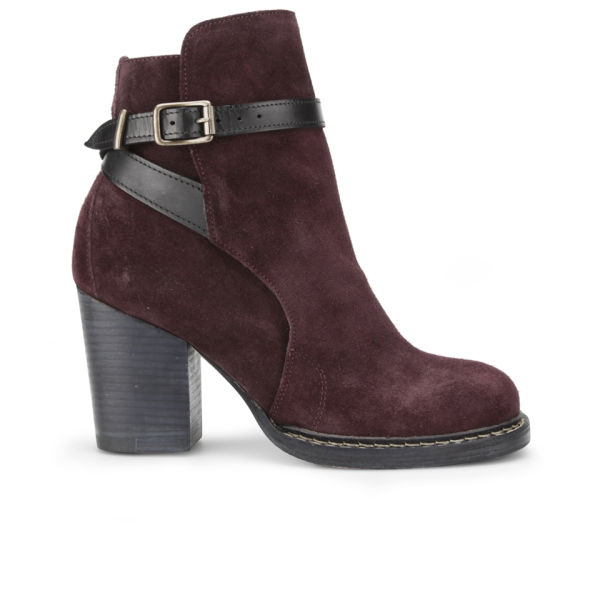 Purified Women's Petra 2 Leather Heeled Ankle Boots - Bordo