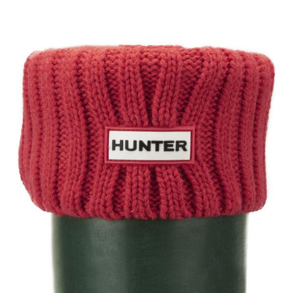 Hunter Women's Chunky Rib Boot Socks - Bright Coral