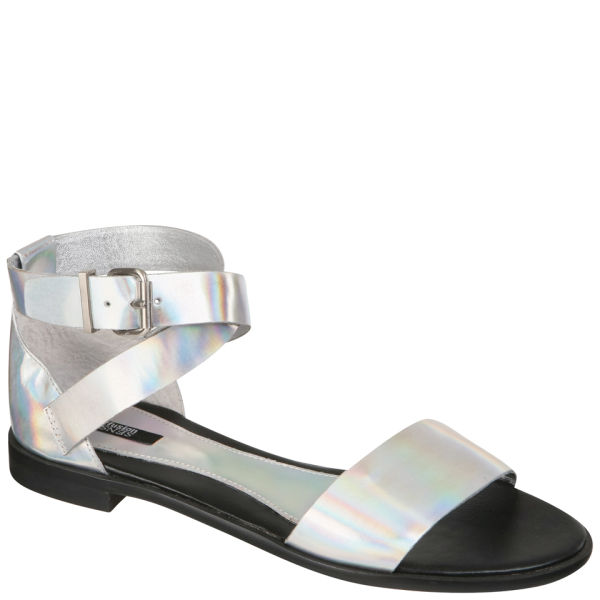 Senso Women's Gina Flat Sandals - Laser Silver
