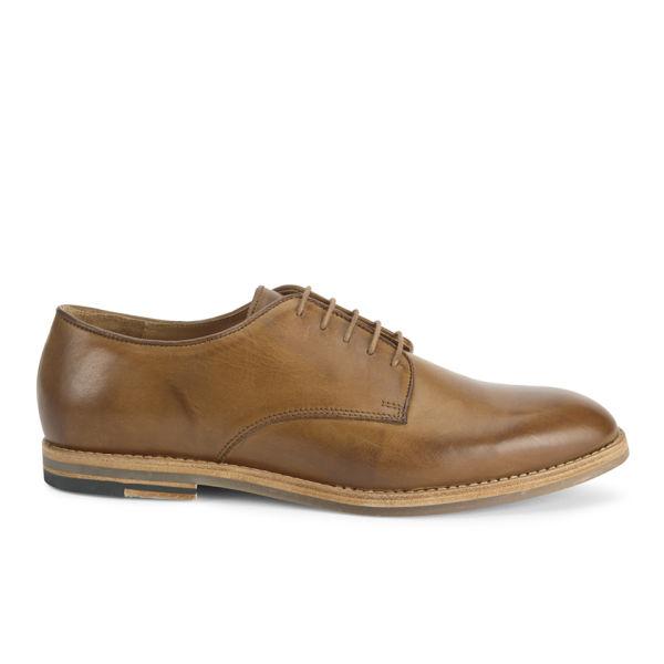H Shoes by Hudson Men's Hadstone Leather Plain-Toe Shoes - Tan