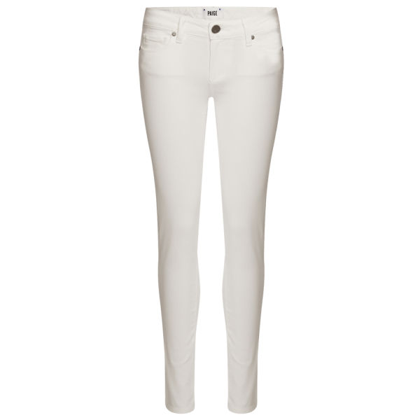 Paige Women's Skyline Mid Rise Ankle Peg Skinny Jeans - Optic White