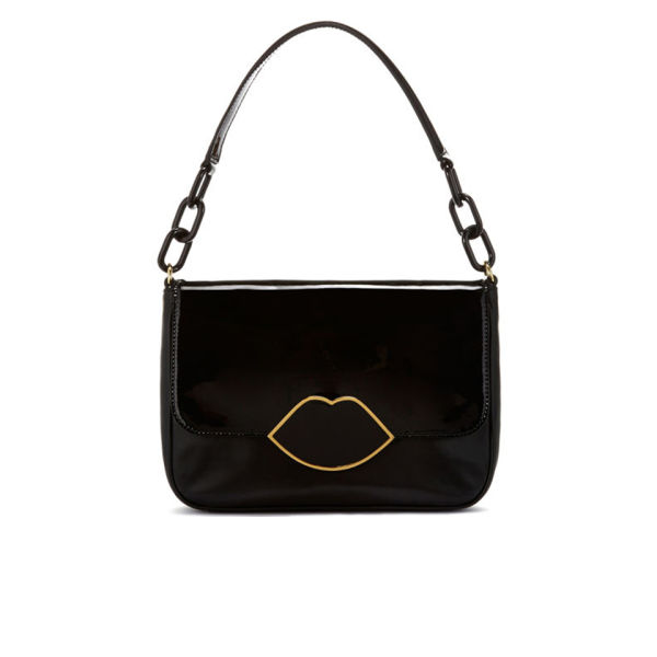 Lulu Guinness Annabelle Patent Leather Bag - Black