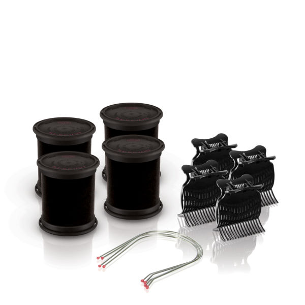 Diva Session Instant Heat 50mm Rollers, Clips & Pins Pack of 4