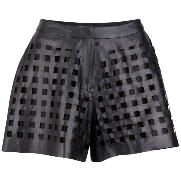 Avelon Women's Perforated Shorts - Black