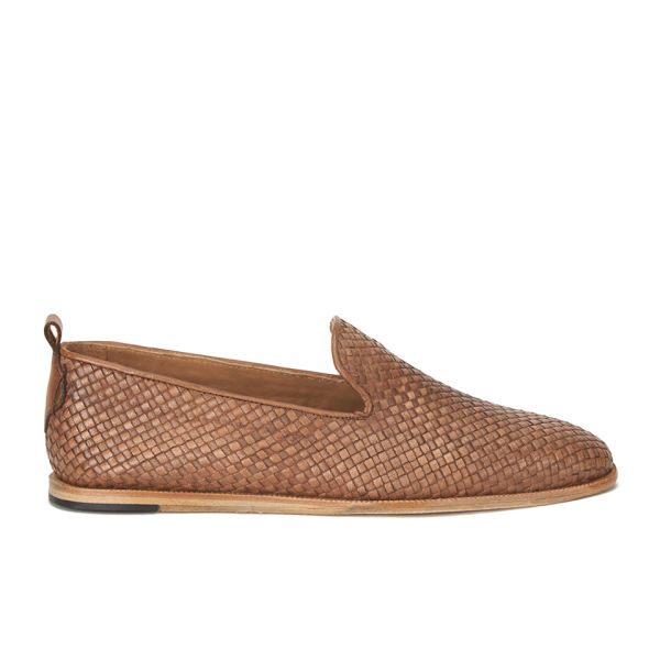H Shoes by Hudson Men's Ipanema Weave Slip on Leather Shoes - Tan