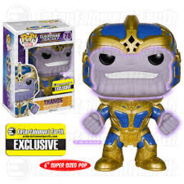 Marvel Guardians of the Galaxy Thanos Glow In The Dark EE Exclusive 6 Inch Pop! Vinyl Figure