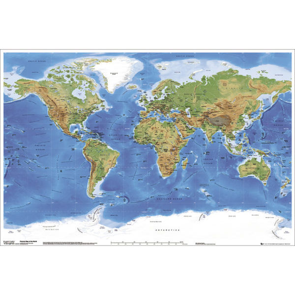 Planetary Visions Physical Map of the World - Maxi Poster - 61 x 91.5cm