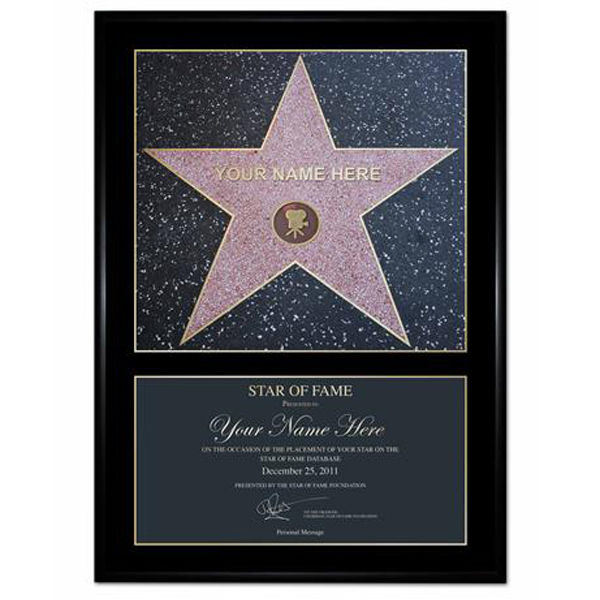 A 'Star of Fame' Award Personalised Poster Gift Pack | IWOOT