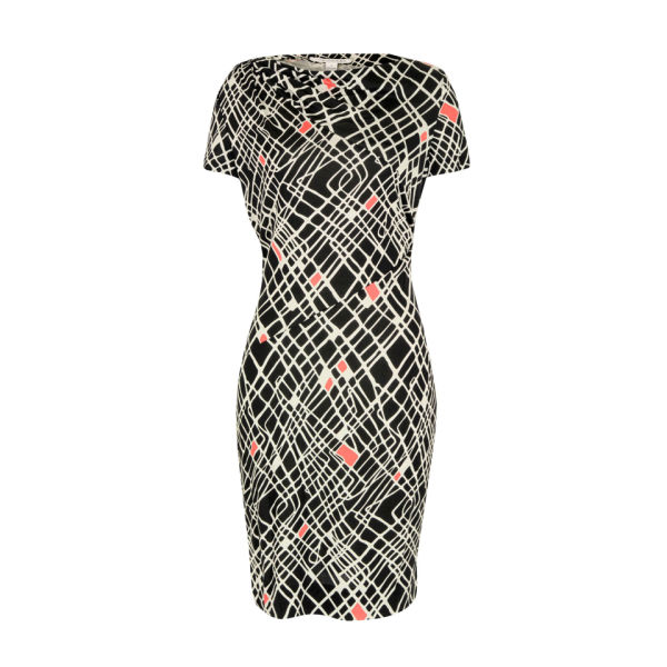 Diane von Furstenberg Women's Oda Cable Squares Print Dress - Black/Multi