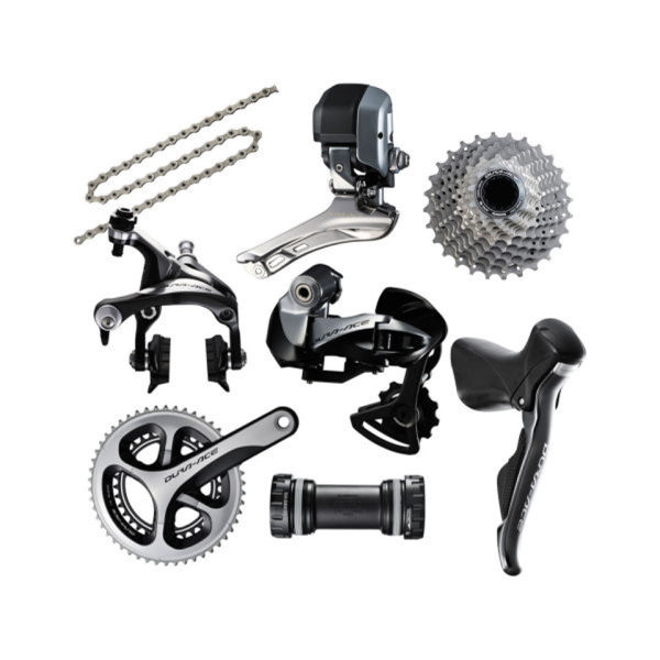 Shimano Dura Ace 9070 Compact Di2 Bicycle Groupset (External Battery)