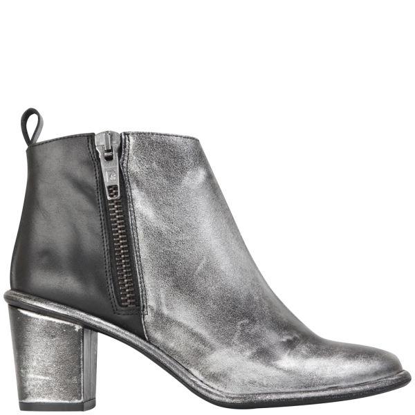 miista s heeled leather ankle boots black