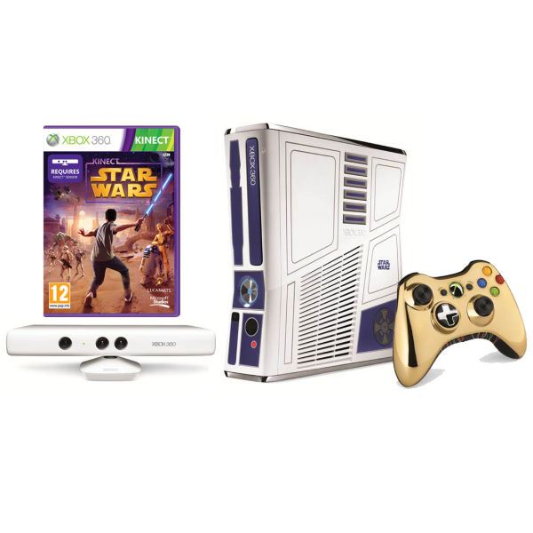 Xbox 360 kinect star wars limited edition bundle iwoot - Xbox 360 console kinect bundle ...