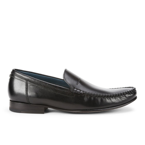 ted baker s simeen 2 leather slip on shoes black