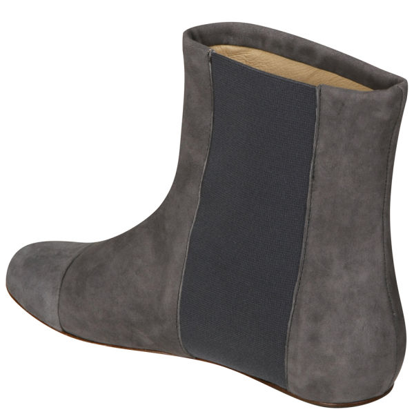see by s 60s style flat ankle boots grey