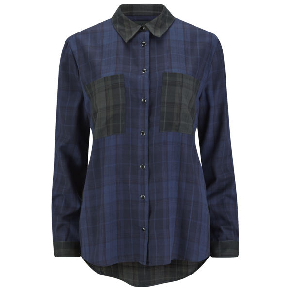 Gestuz Women's Maro Check Shirt - Blue Check