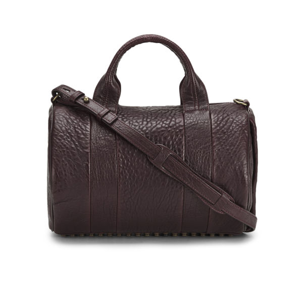 Alexander Wang Rocco Stud  Detail Leather Bowler Bag - Beet
