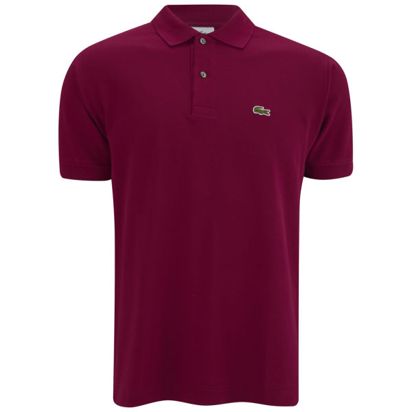 lacoste men 39 s polo shirt burgundy free uk delivery