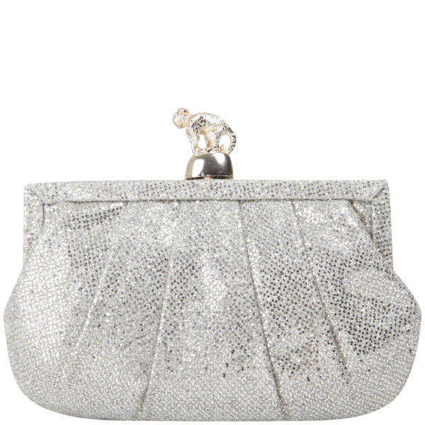 Wilbur & Gussie Margot Clutch - Silver Glitter/Gold Monkey