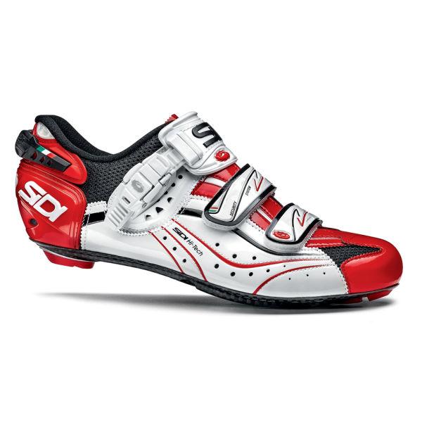 sidi genius 6 6 carbon vernice cycling shoes black white