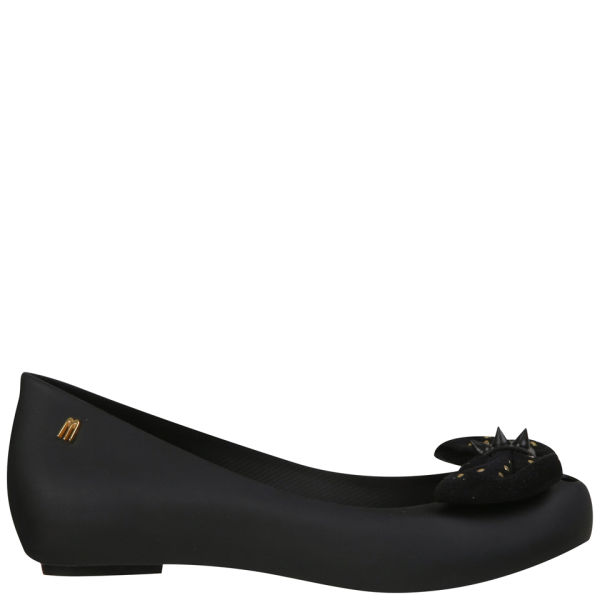 Melissa Women's Ultragirl Sweet Studded Bow Ballet Pumps - Smoke