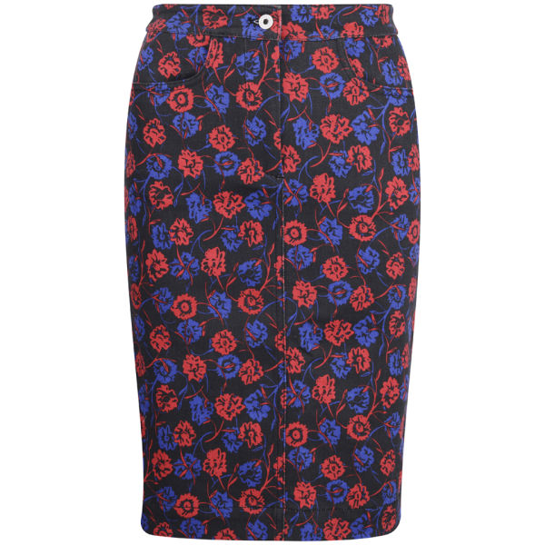 Wood Wood Women's Gladys Skirt - Flower Dark Navy Print