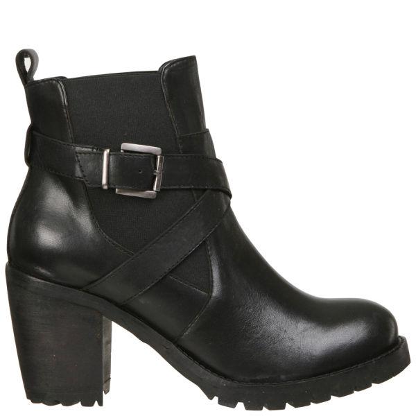 Lola Cruz Women's Leather Chelsea Boots - Black
