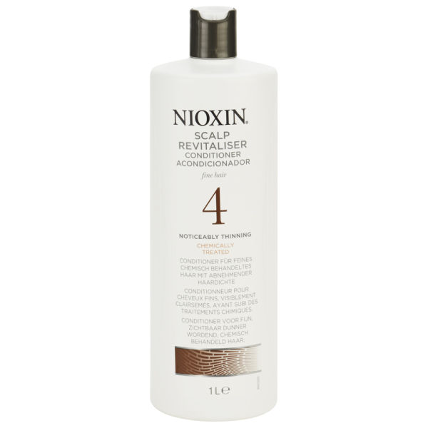 NIOXIN System 4 Scalp Revitaliser Conditioner for Fine, Noticeably Thinning, Chemically Treated Hair 1000ml - (Worth £68.30)