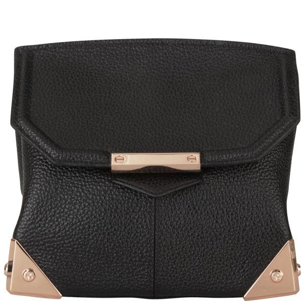 Alexander Wang Marion Leather Bag - Black Pebble/Rose Gold