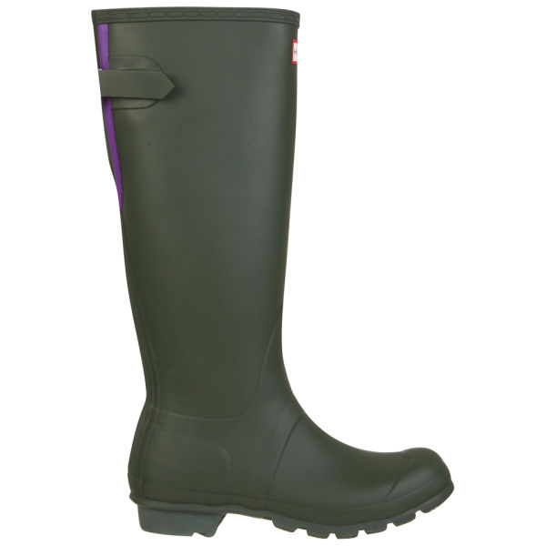Hunter  Women's Original Back Adjustable Wellies - Dark Olive/Sovereign Purple