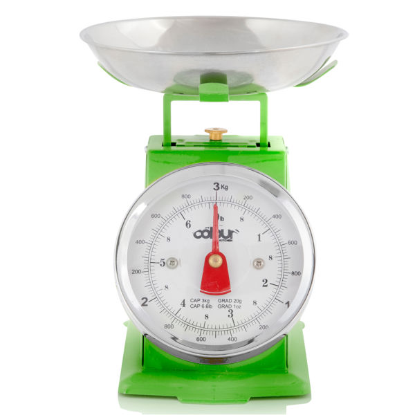 Cook in colour 3kg mini traditional kitchen scales green for Traditional kitchen scales