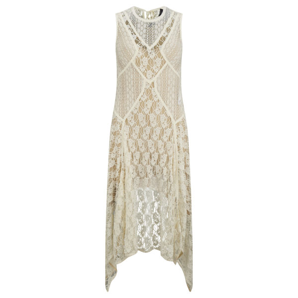 HIGH Women's Remind Jersey Sleeveless Dress - Cream