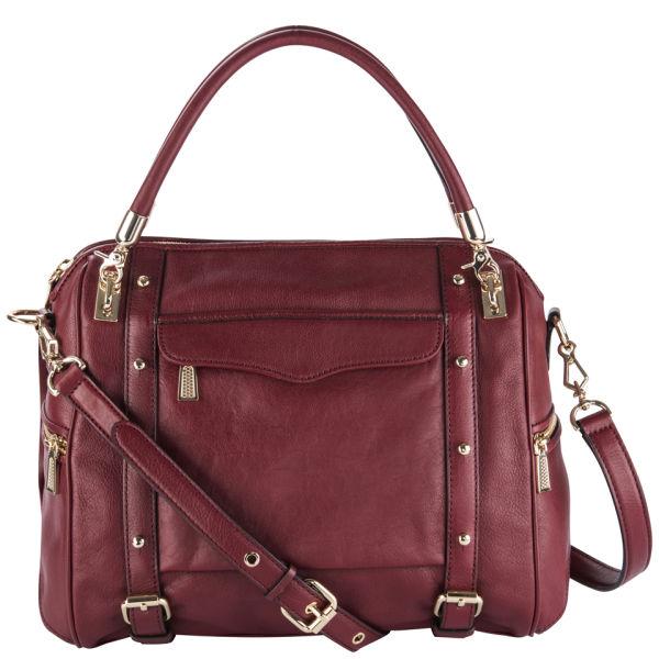 Rebecca Minkoff Cupid Leather Grab Bag - Port