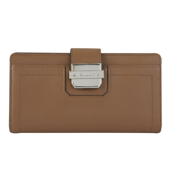 MILLY Colby Continental Leather Wallet - Luggage