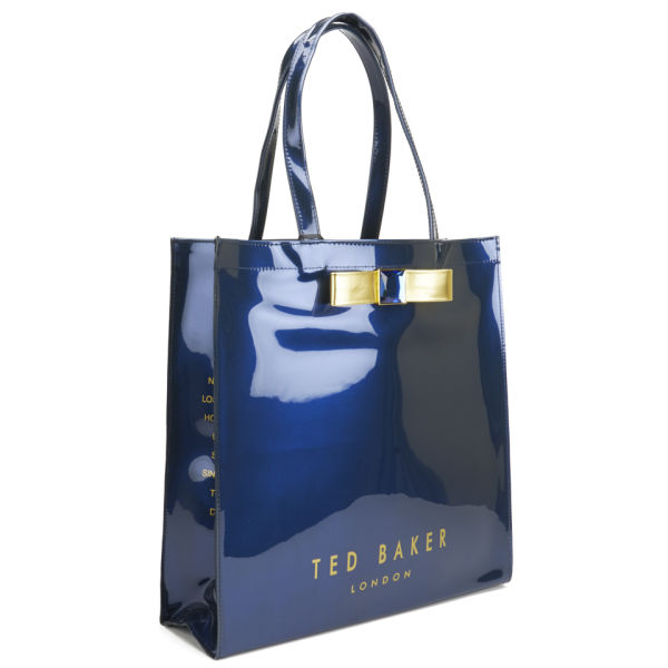 Ted Baker Women S Julecon Embellished Bow Tote Bag Dark Blue