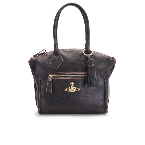 Vivienne Westwood Women's Dolce Curve Top Leather Tote - Brown
