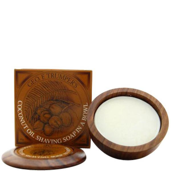 Trumpers Wooden Shave Bowl - Coconut (Sensitive/Dry Skin) (80g)