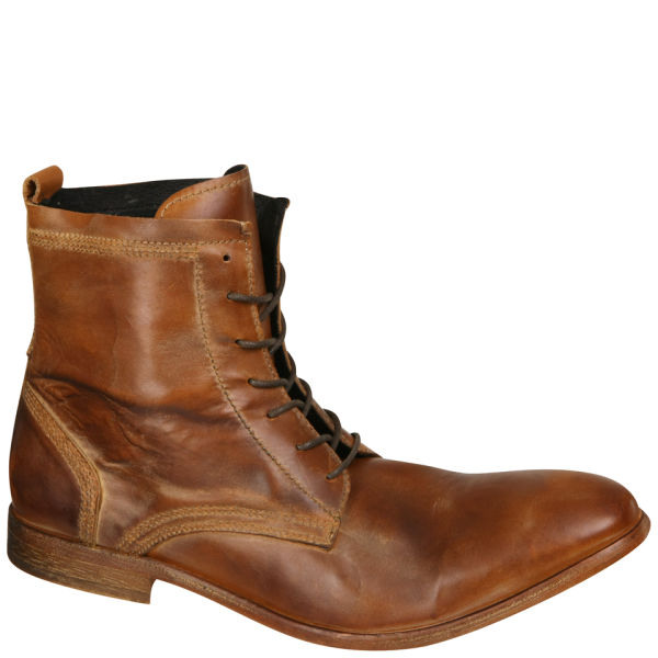 H Shoes By Hudson Men S Swathmore Calf Leather Boots Tan