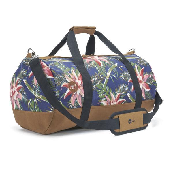 mi pac palm floral duffle bag navy
