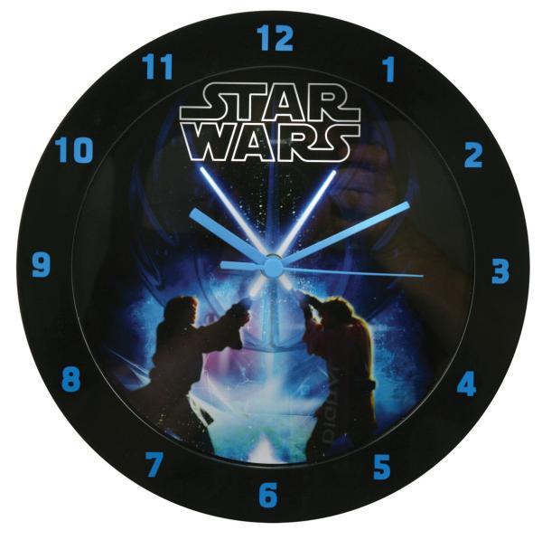star wars printed wall clock iwoot. Black Bedroom Furniture Sets. Home Design Ideas