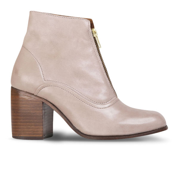H Shoes by Hudson Women's Piper Leather Heeled Ankle Boots - Taupe