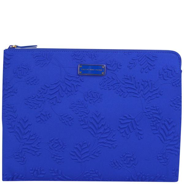 marc by marc jacobs mini mareika deboss neoprene 13 inch laptop zip case bauhaus blue free. Black Bedroom Furniture Sets. Home Design Ideas