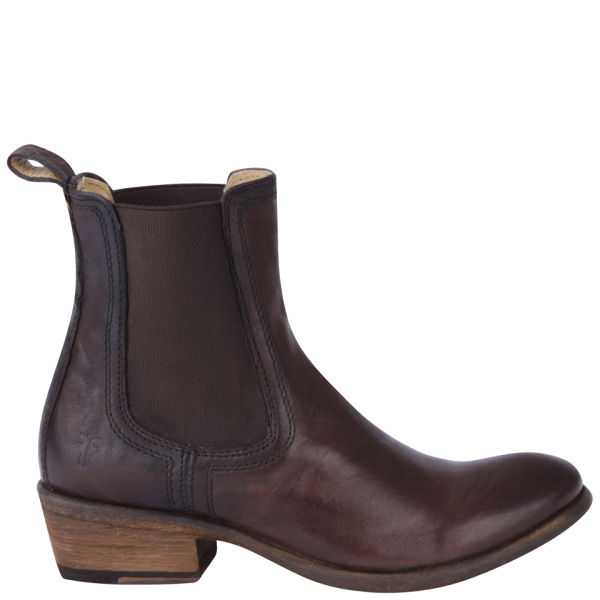 Cool   Steptronic Mens Austin Dark Brown Leather Pull On Chelsea Boots